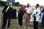 Ceremony Commemorating James A. Hyter by the Mississippi River