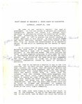 Dr. Benjamin Hooks, Draft of Remarks to the March on Washington, Washington D.C.