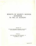 The Black Presidents' Roundtable Association, Benefits of Minority Business Enterprise to the U.S. Economy, Washington D.C.
