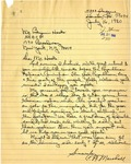 Letter from C. N. Marshall