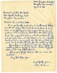 Arthur Prince, Letter to Dr. Benjamin Hooks after Assassination of Martin Luther King Jr., Memphis, Tennessee