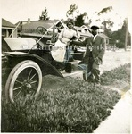 Portraiture: Woman Seated in Car, at Home, and with Friends