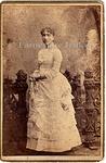 Photography: Carte-de-visite, Woman in White Dress