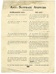 Anti-Suffrage answers, flyer
