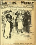 Cartoon from the cover of Harper's Weekly, February, 1907