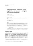 A Neighborhood Condition which Implies the Existence of a Complete Multipartite Subgraph