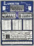 Lambuth College sports calendar, 1987-1988