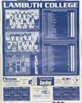 Lambuth College sports calendar, 1978-1979