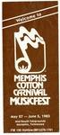 Memphis Cotton Carnival MusicFest program, 1983