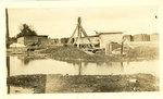 Flooded lumberyard, Memphis, 1927
