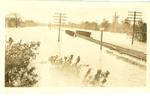 Flooded railroad track, Memphis, 1927