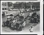 Lumber trucks, Corinth, Mississippi, circa 1930