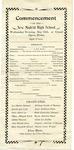 New Madrid High School commencement program, 1904