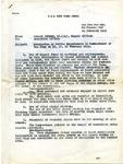U.S.S. New York memorandum, 1945