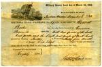 Harrison Bennett military land warrant, Missouri, 1852