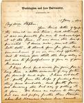 George W.C. Lee letter, 1872
