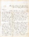 Lt. General Stephen D. Lee letter, 1864