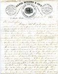 David McComb & Co's, Memphis, letter, 1863 April 30