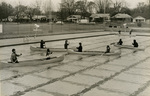 Canoeing class at MSU pool, 1975