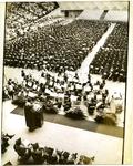 Memphis State University graduation ceremony, 1974
