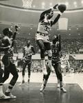 Memphis State University basketball player Ronnie Robinson, 1973
