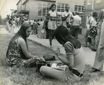Memphis State University students at registration, 1971