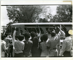 Memphis State University protesters taken to jail, 1969