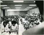 Memphis State University Black Student Association discuss demands, 1969