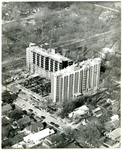 Memphis State University's Highland Towers dormitory under construction, 1967