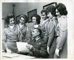ROTC Angel Flight at Memphis State University, 1963
