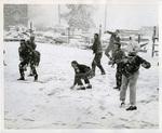 Memphis State University snowball fight, 1960