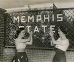 Memphis State University students celebrate university status, Memphis, 1957