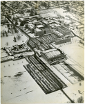 Aerial view of Memphis State College, 1956
