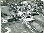 Aerial view of Memphis State College, 1950
