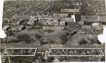 Aerial view of Memphis State University, Memphis, 1958