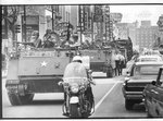 National Guard troops on Main Street, Memphis, 1968