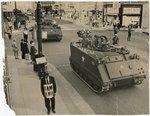 Marchers and guardsmen, Memphis, 1968