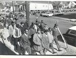 Striking sanitation workers march, Memphis, 1968