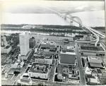 Downtown Memphis and the Hernando de Soto Bridge, 1973