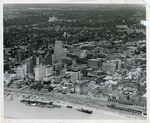 Downtown Memphis and the riverfront, circa 1955