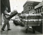 Cotton samples on Front Street, 1964
