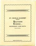St. Cecilia Academy, Nashville, program, circa 1906