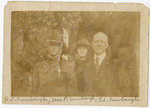 Robert C. and Thomas L. Crumbaugh with Jane Finnegan, circa 1918