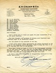 E.H. Crump letter to Commercial Appeal staff, 1939