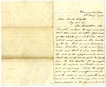 Jefferson Davis letter to Alexander M. Clayton, May 1873