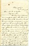 Jefferson Davis letter to Alexander M. Clayton, August 1873