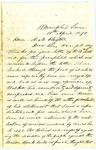 Jefferson Davis letter to Alexander M. Clayton, April 1870