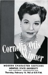 Cornelia Otis Skinner at Memphis State University, 1963