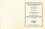 Trezevant High School recital program, 1927