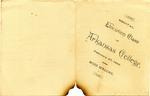 Elocution Class Recital Program, Arkansas College, 1896